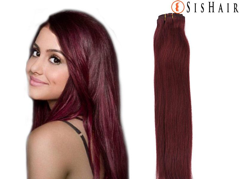 Clip in hair extensions 99j red wine burgundy straight clip in hair extensions 99j red wine burgundy pmusecretfo Gallery
